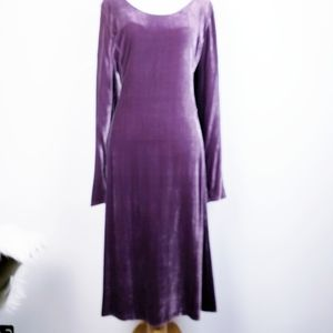 Eileen Fisher - Lavender Silk Blend Velvet Dress